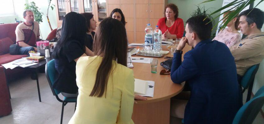 """први састанак чланова тима ангажованих у пројекту """"Превенција вршњачког насиља"""""""