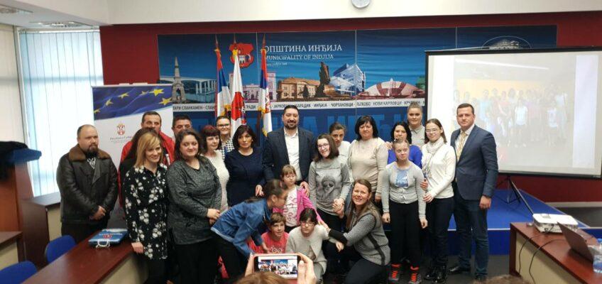 Подршка деци са сметњама у развоју и њиховим породицама у општини Инђија